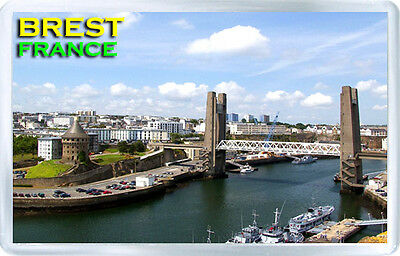 Brest France Fridge Magnet Souvenir Iman Nevera