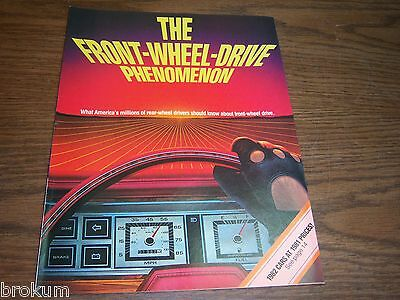 Mint 1982 Chrysler Front-Wheel-Drive Phenomenon Dealer Sales Brochure (A-20)