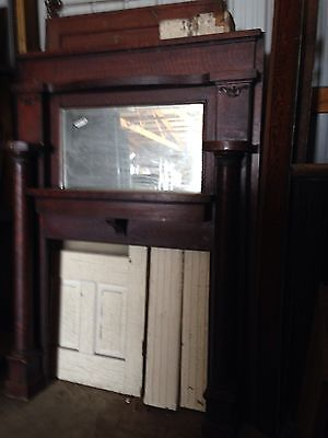 Antique Oak Fireplace Mantle M 20