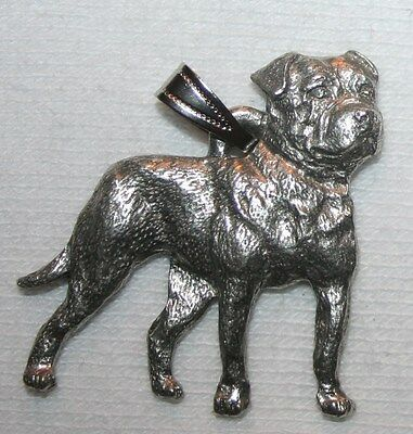 American Bulldog Dog Harris Fine Pewter Pendant USA Made