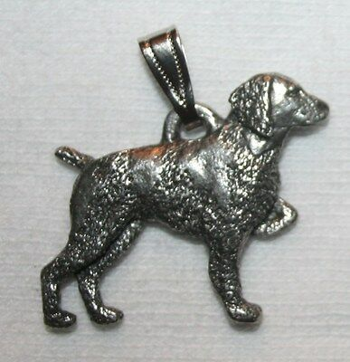 Brittany Dog Harris Fine Pewter Pendant USA Made