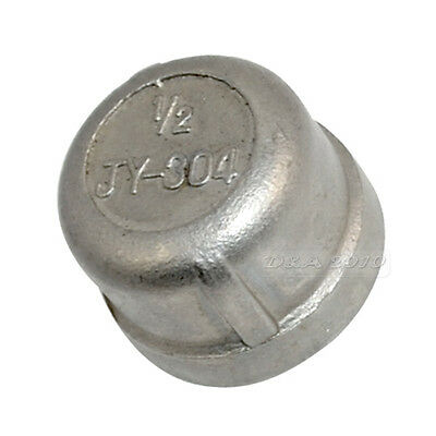 "1/2"" Cap Female Stainless Steel SS304 Threaded Pipe Fitting BSPT NEW"