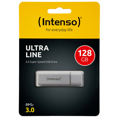 kQ Intenso Ultra Line USB Stick 128GB Highspeed USB 3.0 Alu silber 128 GB