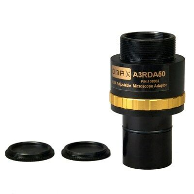 0.5X Focus Adjustable Reduction Lens for Microscope Camera 23.2mm Eyepiece Tube