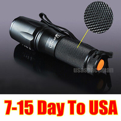 2000 LUMEN CREE XM-L T6 LED Tactical flashlight Torch Zoomable Lamp Light 5-Mode