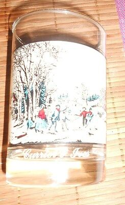Arby's Currier & Ives Winter Pastime Collector's Glass - 1981