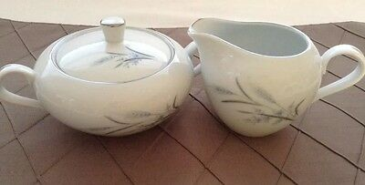 CASTLE COURT WHEAT HARVEST FINE CHINA MADE IN JAPAN CREAMER & SUGAR