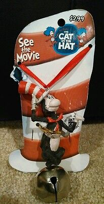 Dr. Seuss Necklace with Bell NWT The Cat in the Hat Movie