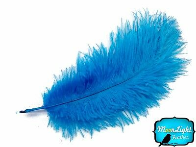 """Ostrich Feathers, 6-8"""" Turquoise Blue Ostrich Feathers 10 Pieces"""