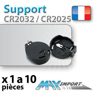 Support pile CR2032 / CR2025 (battery holder) Lots multiples, prix dégressif