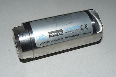 "PARKER 97S6 MINIATURE 316 STAINLESS STEEL FILTER 1/4"" NPT INLINE PORTS 5000PSIG"