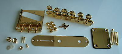 Quality telecaster guitar hardware guitar parts kit gold + Wilkinson tuners new