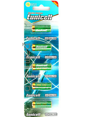 A23 MN21 23A GP23A 8LR23  12V  Alkaline batteries  , Eunicell   5 x   battery
