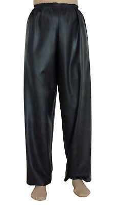Rubber Trousers Jogging Pants Silicone Latex AB Bottoms Pajamas XL XXL Black