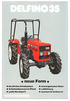 1993/94 Same Delfino 35 Tractor Sales Sheet (German)