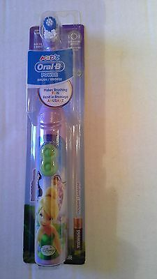 ORAL-B * FAIRIES * Stage Power Spin Brush Battery Powered ToothBrush New In Pack