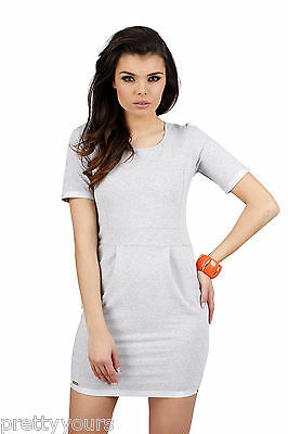 NEW Women's Empire Line Dress Scoop Neck Short Sleeves 8 10