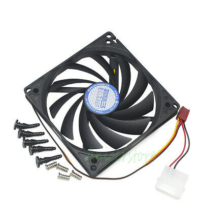 100mm & 90mm x15mm Dual Holes design Cooler Cooling Fan for HTPC Case CPU VGA