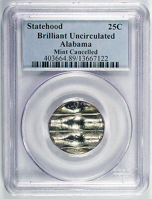 ALABAMA STATE QUARTER 25c MINT CANCELLED ERROR COIN IN NGC HOLDER