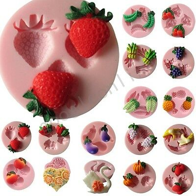 Lot Shapes Silicone Mould for Polymer Clay Candy Cake Decorating Fondant Craft