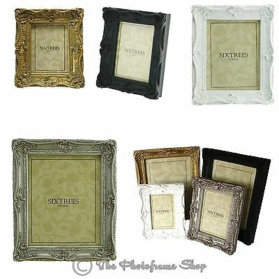 Ornate Swept Shabby Chic Vintage Antique Style Photo Frames 4x4 6x4 7x5 8x6 10x8