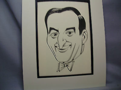 Danny Thomas Caricature Drawing from Studio 54 New York Famous Faces art