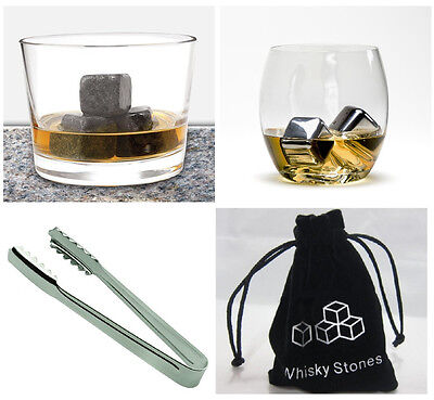 Whiskey Whisky Stone Scotch Soapstone Glacier Ice Cubes Rocks Stainless Steel SS