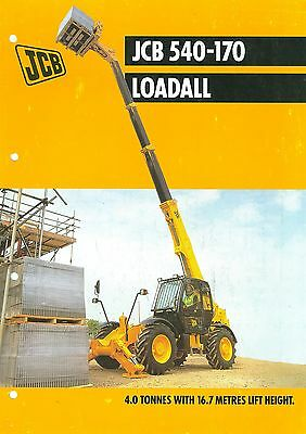 2001 Jcb Loadall 540-170 Specification Brochure