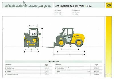 2002/03 Jcb Loadall 520-40 Farm Special Specification Brochure
