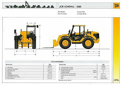 2005/06 Jcb Loadall 526S Specification Brochure