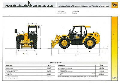 2007 Jcb Loadall Agri 541-70 Specification Brochure