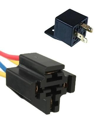 4 Pin Normally Closed Relay With Pre Wired Holder 12V 20Amp New N/C
