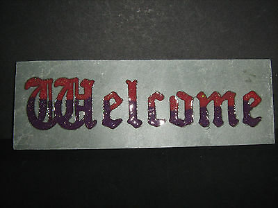 Welcome or Blessed Be Stone Wall Plaque   Home/Garden/Ornament