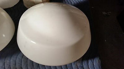 Deco milk glass school house shade (LT 608)