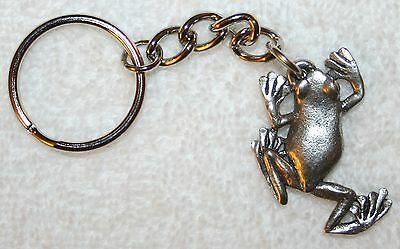 TREE FROG Fine Pewter Keychain Key Chain Ring USA Made