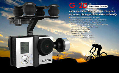 Walkera G-2D Brushless Gimbal Camera Mount Gopro Hero 3 Free Tracking Shipping
