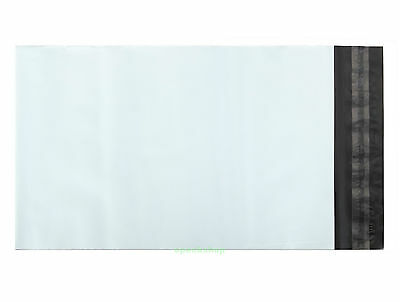 """White Poly Mailing Bags Postage Plastic Envelopes 9"""" x 12""""_230 x 305+45mm"""