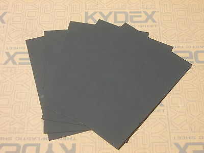 5 Pack 2 mm KYDEX T SHEET 300 mm X 300 mm (P-1 HAIRCELL BLACK 52000)