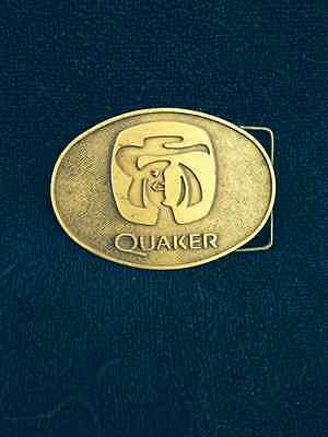 VINTAGE QUAKER OATS COMPANY BELT BUCKLE-GIVEN TO EMPLOYEE FOR 20 YEARS SERVICE