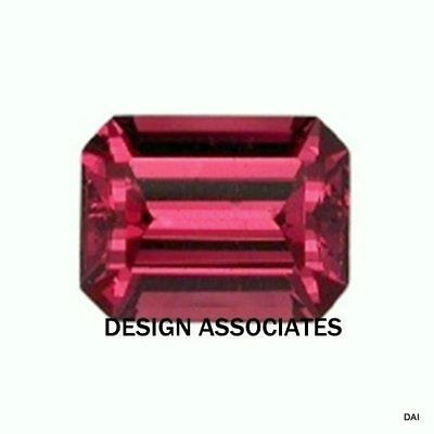 Rhodolite Garnet 10X8 Mm Emerald Cut All Natural