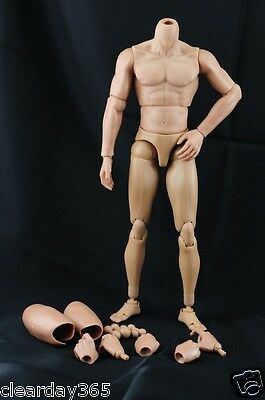 Hot Custom Muscular 1/6 Toys Scale nude Body TTM19 Hit figure Narrow Shoulder