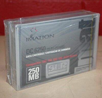 Qty of 2 Imation DC 6250 Data Cartridge 250MB NEW