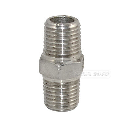 "1/4"" Male x 1/4""  Male Hex Nipple Stainless Steel 304 Threaded Pipe Fitting BSP"