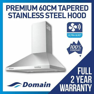 DOMAIN 60cm STAINLESS STEEL TAPERED CANOPY RANGEHOOD - SPECIAL!!!!
