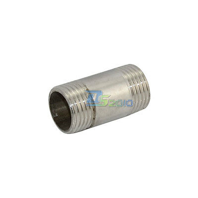 "1/2"" Male x  1/2"" Male Threaded Pipe Fitting Stainless Steel SS304 BSPT NEW"