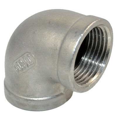 "1"" Elbow 90 Degree Angled Stainless Steel 304 Female Threaded Pipe Fitting BSP"