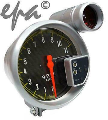 5 Inch Carbon Face Monster Tachometer Tacho Gauge + Shift Light