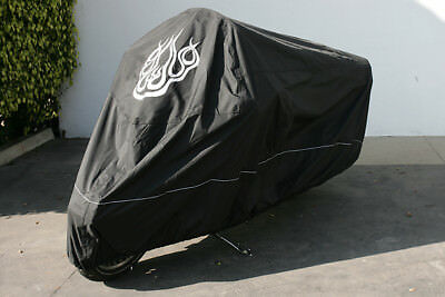 High Quality Harley Davidson Motorcycle Cover, Cable and Lock, Flame Emblem