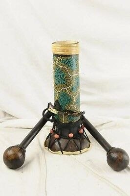 Hand-carved Indonesia Beaded Reptilian Drum