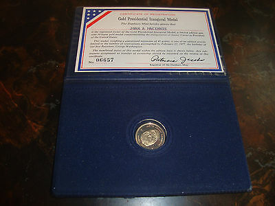 Jimmy Carter---The Danbury Mint---10kt Gold Inaugural Medal---With COA---1977